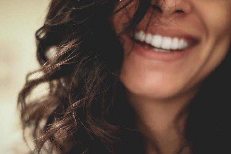 beautiful womans smiling face
